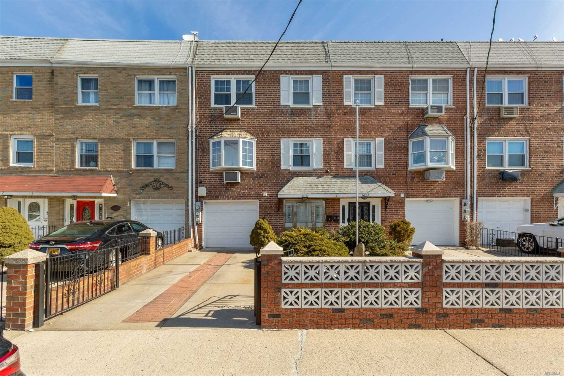 This Fabulous 2 Family + W/I Property Is Only A Few Feet From Juniper Valley Park. Close To Express Bus To Manhattan Featuring 6 Rms, 3 Bdrms & 1 Full Bath On 2nd & 3rd Fl And The Ground Fl Has A 3 Rm W/I. The Modern Kitchens Boast Granite Counters & S/S Applainces, Hardwood Floors Thru Out. The Modern Bathrooms Compliment The Apartments And The Private Backyard Is Ideal For Entertaining. Never Look For Parking Again With A 1 Car Garage And Private Driveway In Front Of The Home.