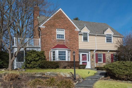 Spectacular Xl Munsey Park Colonial Featuring Mbr W/Bath, + 3 Additional Bedrooms & Full Bath, Eik, Fdr, Lr W/Fpl, Office/Bedroom W/Full Bath, Walk-Up Floored Attic, 2 Stairways To Full Basement W/Fireplace.