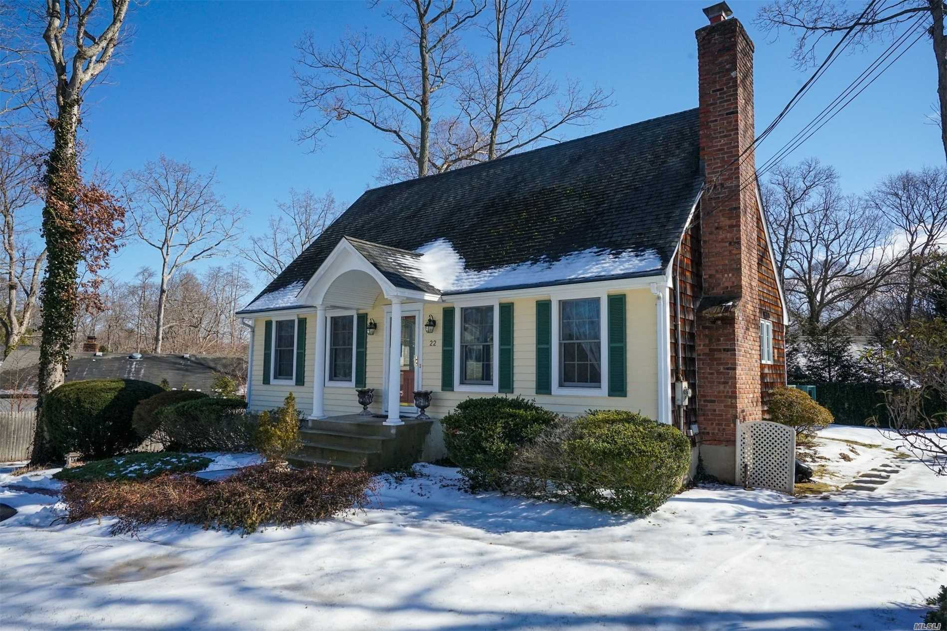 Photos Coming--Old Stony Brook--Walk To Lirr, Susb, Restaurants, Shopping, Beach & Village From This Charming 7-Room Cape With Fireplace, Some Hardwood Floors, Renovated Kitchen W/Dacor Refrigerator, Ss Appliances, Silestone Counters & Backsplash, Washer/Dryer 2018, Shower Doors & Front Storm Door 2017, Oil Burner 2015, Hunter Douglas Blinds.