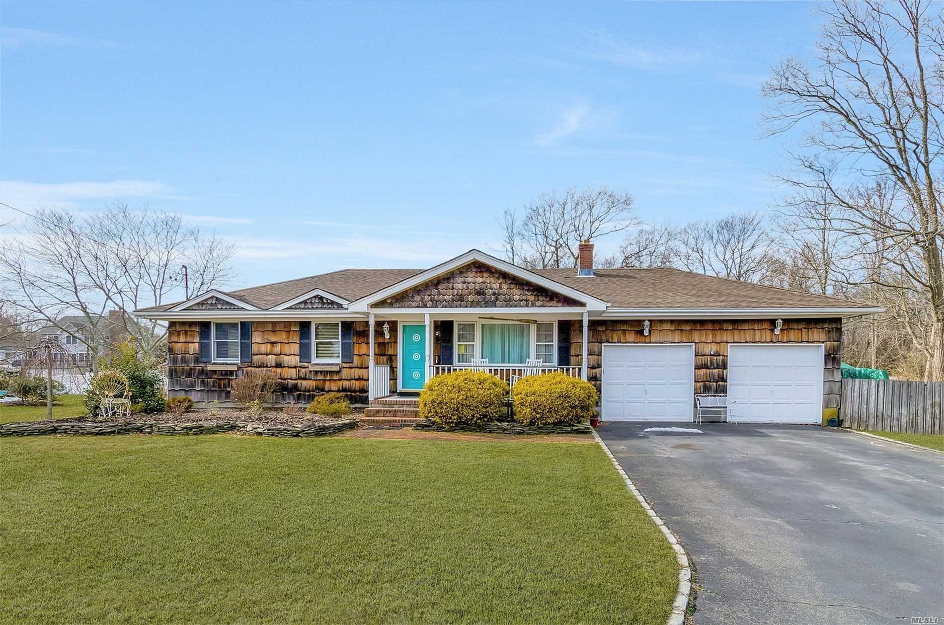 This Expanded 3 Bed Ranch Is A Boater's Dream Canal Front With 75 Feet Of Bulkhead A Ramp And A Boat Lift. Inside This Well-Appointed Home You Have An Expansive Family Room Which Is Open To An Updated Kitchen And Then Out To A 14X38 Ft Brazilian Redwood Deck With A Hot Tub. You Have A Full Finished Basement With A Bar And Full Bath Plus A 2-Car Garage.