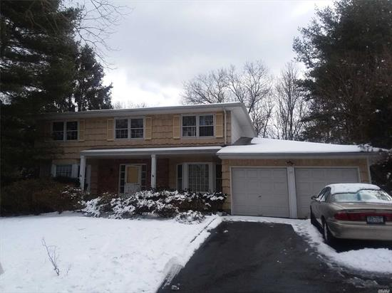 Beautiful Flat Property. Great Location In Dix Hills, Spacious Rooms, Needs Tlc.