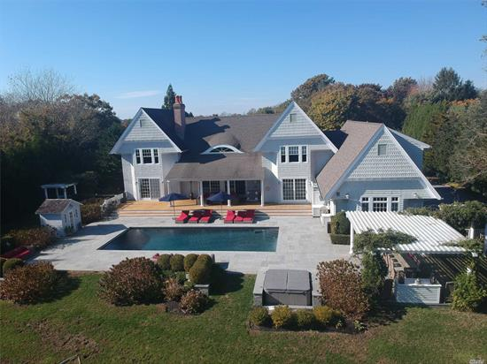 This 6500 Sq. Ft. Turn-Key Estate Offers All The Amenities For Fine Living. Set On 1.4 Manicured Acres W/Heated Gunite Pool, Hot-Tub & Sauna. Features Include Chef's Kitchen, Dr, Lr W/Fplc, Den, 5 Well Appointed En-Suite Bedrooms Plus Master Suite W/Fplc. Finished Guest Quarters Above The 3 Car Garage, Sound System Inside & Out, Full Generator, Plus Finished Basement W/Gym, Lr, Full Bath & Movie Theater. Too Much To List.