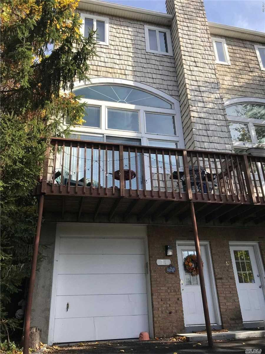 Newly Renovated Nyc Style Triplex, Sun Filled With Cathedral Ceilings, Updated Kitchens & Baths, A/C, Garage. Washer & Dryer, Deck, Offstreet Parking, New Driveway,