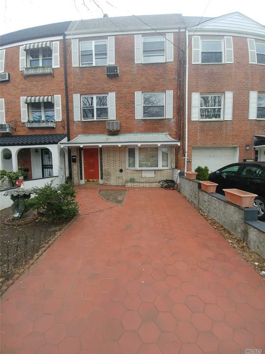 Two Family Dwelling House In The Heart Of Jackson Heights.Brick Property.Convenience To Transportation, Supermarket & Major Highway. New Kitchen, New Bathroom. Buyer Is Responsible Of Verifying All The Property Information.