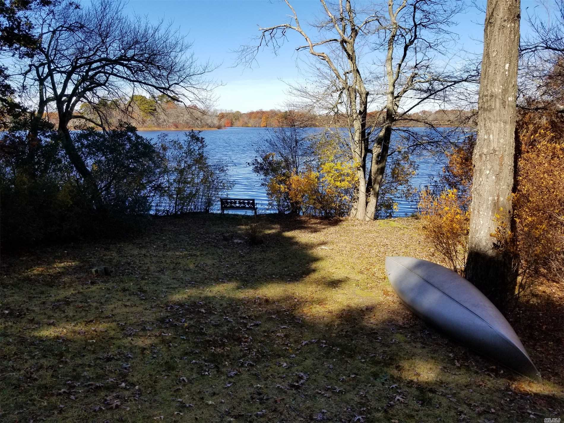 An Amazing Opportunity To Live On The Peconic River. Beautiful Peconic Lake Front Home With Picture Perfect Views All Year Round. Fishing, Kayaking, Paddle Boarding From Your Backyard. High Ceilings, Large Den With Fireplace Leading Out To The Sunroom. This Is A Perfect Starter Home For The Outdoor Enthusiast Or Someone Looking To Downsize And Enjoy The Peace And Quiet Of Lakefront Living.