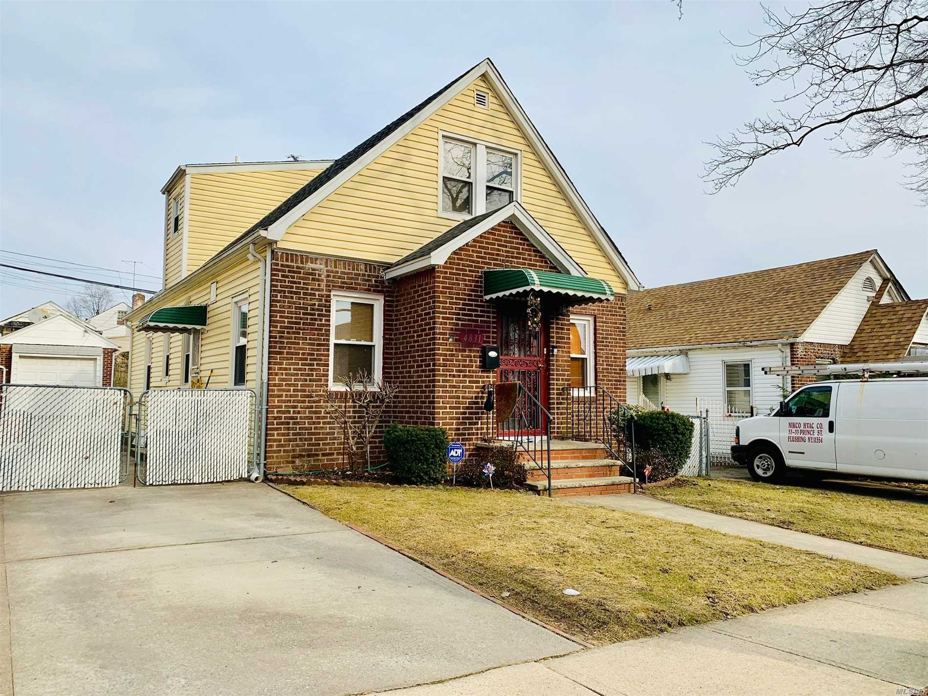 Newly Renovated Charming Oversized 1 Family In Heart Of Fresh Meadows. Lot Size Is 40X100. Building Size Is 22X38.5. Private Driveway With Garage. It Features Oversized 4 Bedroom With High Ceiling On The 2nd Fl, 2Full Ba, Lr And Kitchen. Updates Baths, Kitchen, Hardwood Floor, Basement, Boiler, Electric Wires And Circuit Box And Split Unit A/C Were Done 4.5 Years Ago. Great School District Zoned In #26. Just Mins Away From Bus, I495, Park, School And Supermarkets Etc....