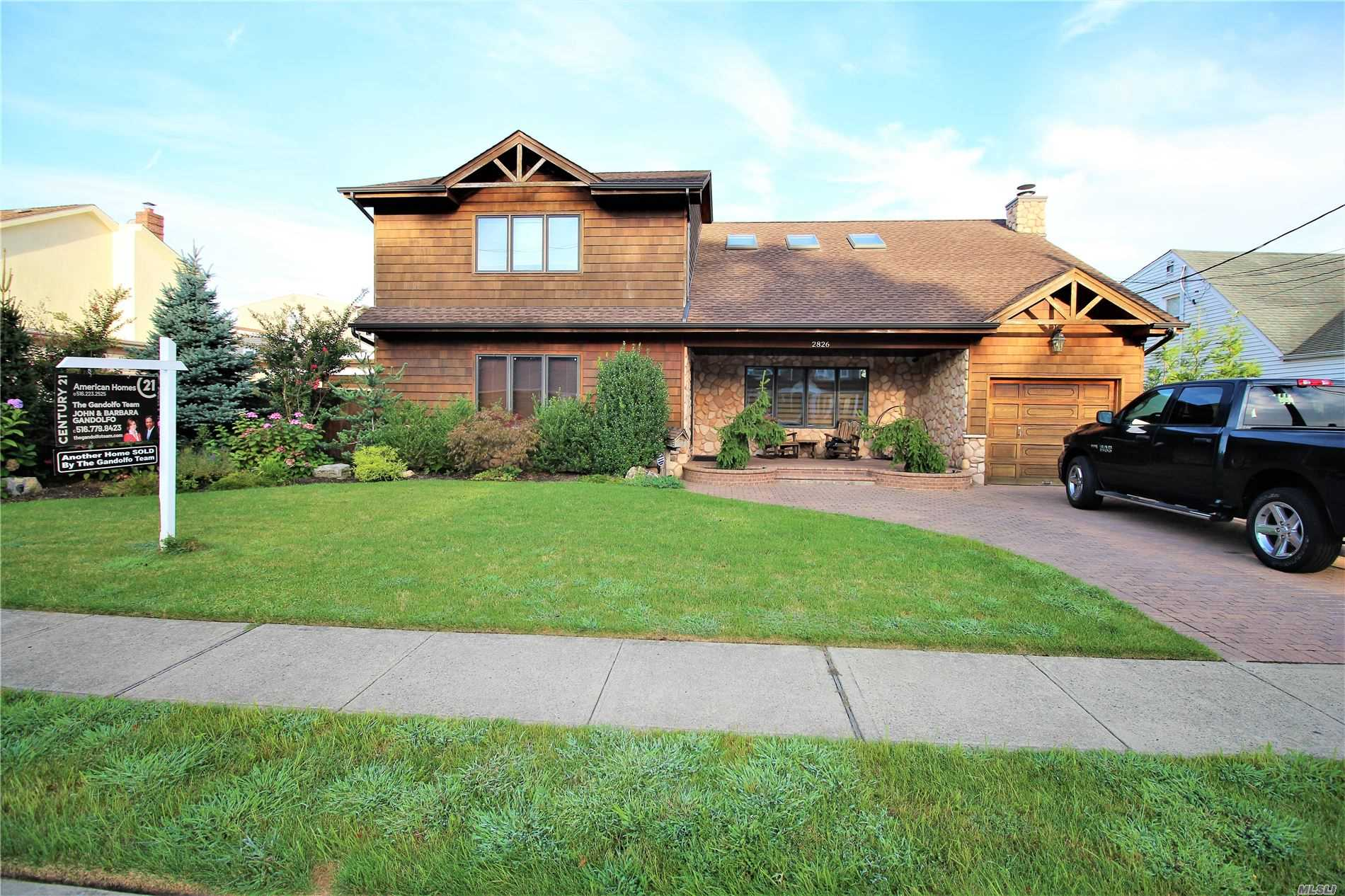 One Of A Kind Custom Built Builders Home, 4 Bedroom, 2.5 Bath Colonial On 70X302 Property In Mill River Section. Expansive Open Floor Plan With Vaulted 20' Ceiling Features Large Living Room, Great Room & Den W/Wood Burning Fireplace. Formal Dining Room & Tremendous Custom Eat In Kitchen W/Over-Sized Island. All Season Room, Master Suite W/Private Bath, 3 Large Bedrooms & Loft Office Or 5th Br, .18X36 Heated In Ground Salt Water Ground Pool, Hot Tub, Pier & Dock On Mill River. Solar Panels, More