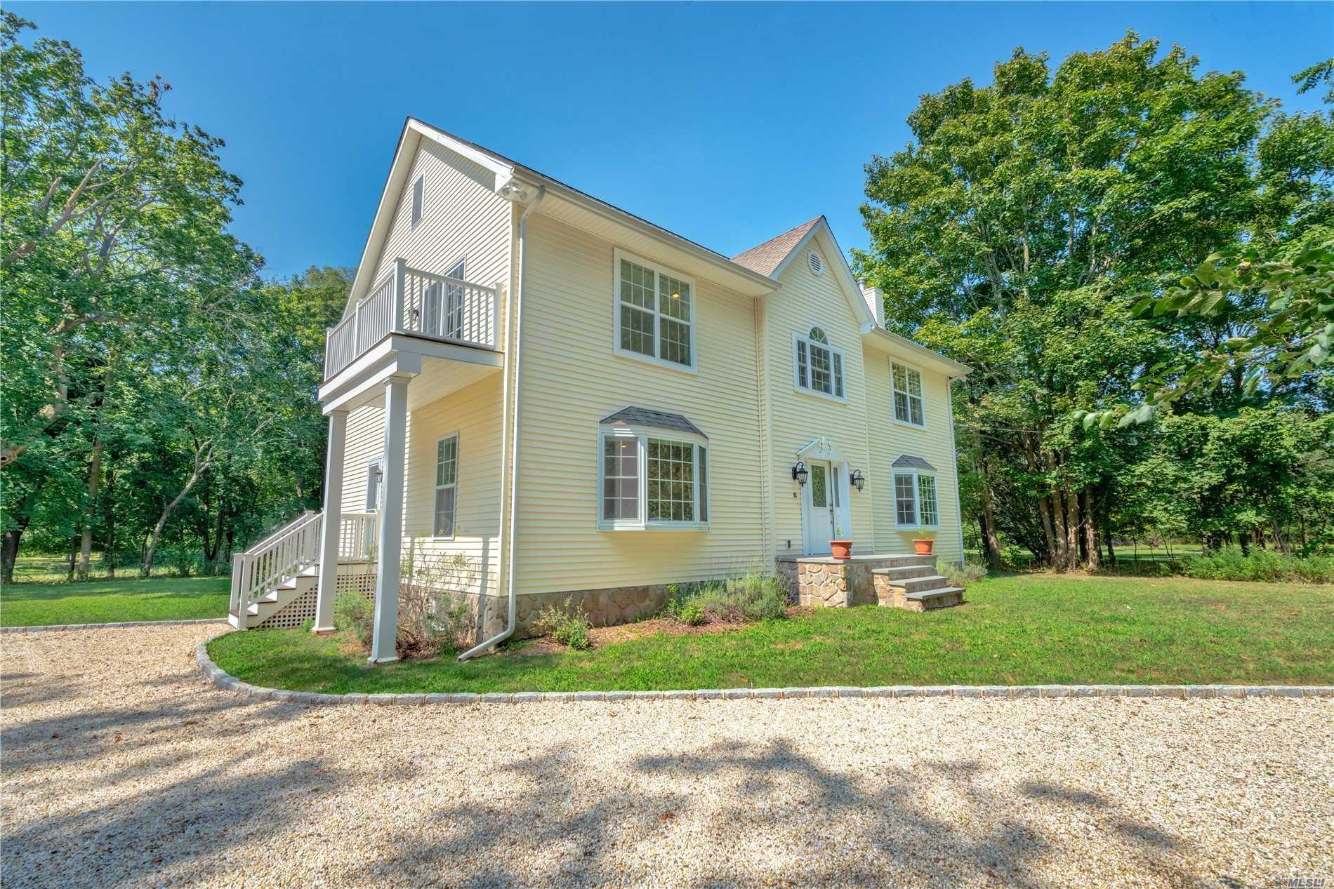 Built In 2006, Spacious Two Story Home Located On A Shy Acre With Room For A Pool Is Located In Orient-By-The-Sea And Is Walking Distance To A Private Association Beach On The Long Island Sound, Bayside Commercial Marina & Orient State Park. The Interior Features Cherry Wood Floors, Granite Countertops, Eat-In-Kitchen, Formal Dining Room, Living Room, Separate Den, Two Guest Bedrooms And Master En Suite With Walk-In-Closets And Balcony. Move In & Enjoy.