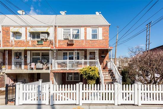 Fabulous Large 2 family semi-detached brick located in Middle Village. 1st fl features 5 rms, 2 bdrms & 1 full bath.  2nd fl has 6 rms, 3 bdrms & 1 full bath. Home is all modern and is turn key! Move right in! Beautfully finished basment and private yard. Private driveway located in front. All brick pavers & 3 zone heating system! Near shopping & transporation.