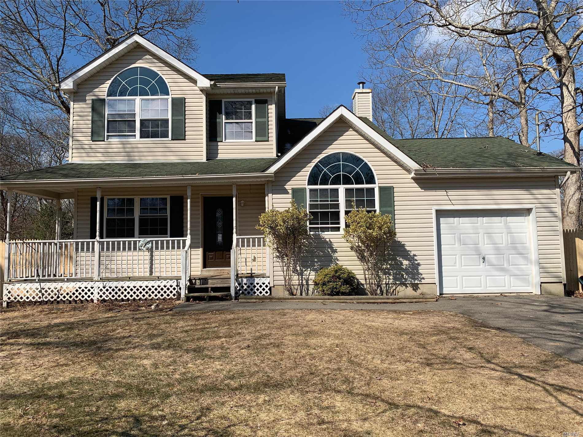 Large Colonial with New Kitchen, Beautiful Ceilings, New Baths, Master Bedrooms w/Master Bath, 0ne Car Garage, Large Backyard Great For Entertainment.