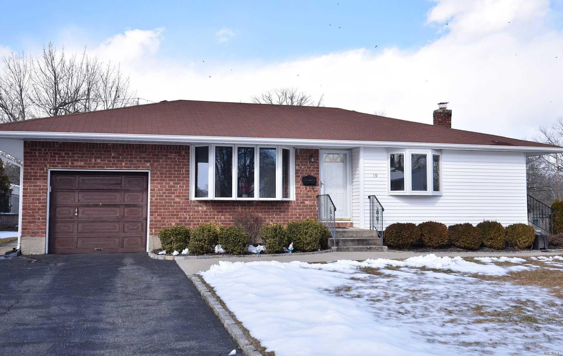 MINT EXPANDED RANCH/with CO/Office, 3 Bedrooms, 2 Baths, Hardwood Floors, Hi-Hats, Updated Kitchen/Sliders Patio, Updated Bay Window, Double Driveway/Belgium Block, Updated Hot Water, Full Bath with Separate Outside Side Entry in Basement. Workshop in Basement. Covered Patio, Sidewalks. Blue Ribbon Commack School District. Close to all Parkways and LIRR and shopping. Near Hoyt Farm.