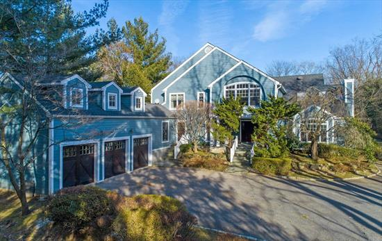 Expansive Six Bedroom Colonial With Modern Flair. Generous Principal Rooms Are Adorned With Hardwood Floors, Custom Built-Ins And Two Fireplaces. Custom Replacement Windows And French Doors Open To A Sublime Private Property Surrounded By Mature Trees Backing A Picturesque Golf Course Setting. Outdoor Hot Tub And Patio. Three Car Garage. Generator. Low, Low Taxes. Eligible Discounted Golf Membership. North Shore School District.