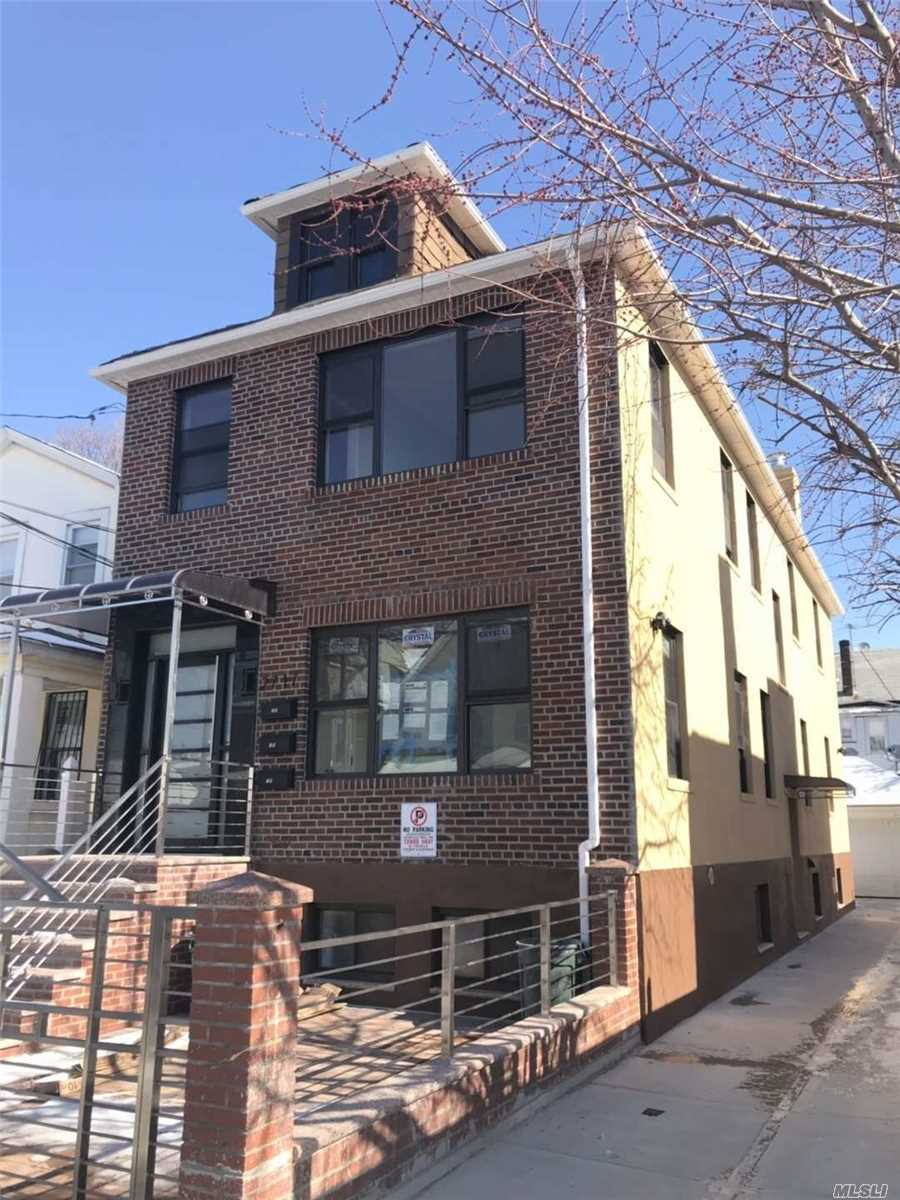 Newly Renovated Interior And Exterior 3-Family House. Lot Size 30*100, Building Size 20*58. High Ceiling Basement With Separate Outside Entrance. 3 Sets Of Boilers. Two Garage. Private Driveway. Great Rental Income. Cap 6.5%. Near Public Transportation And Shops.