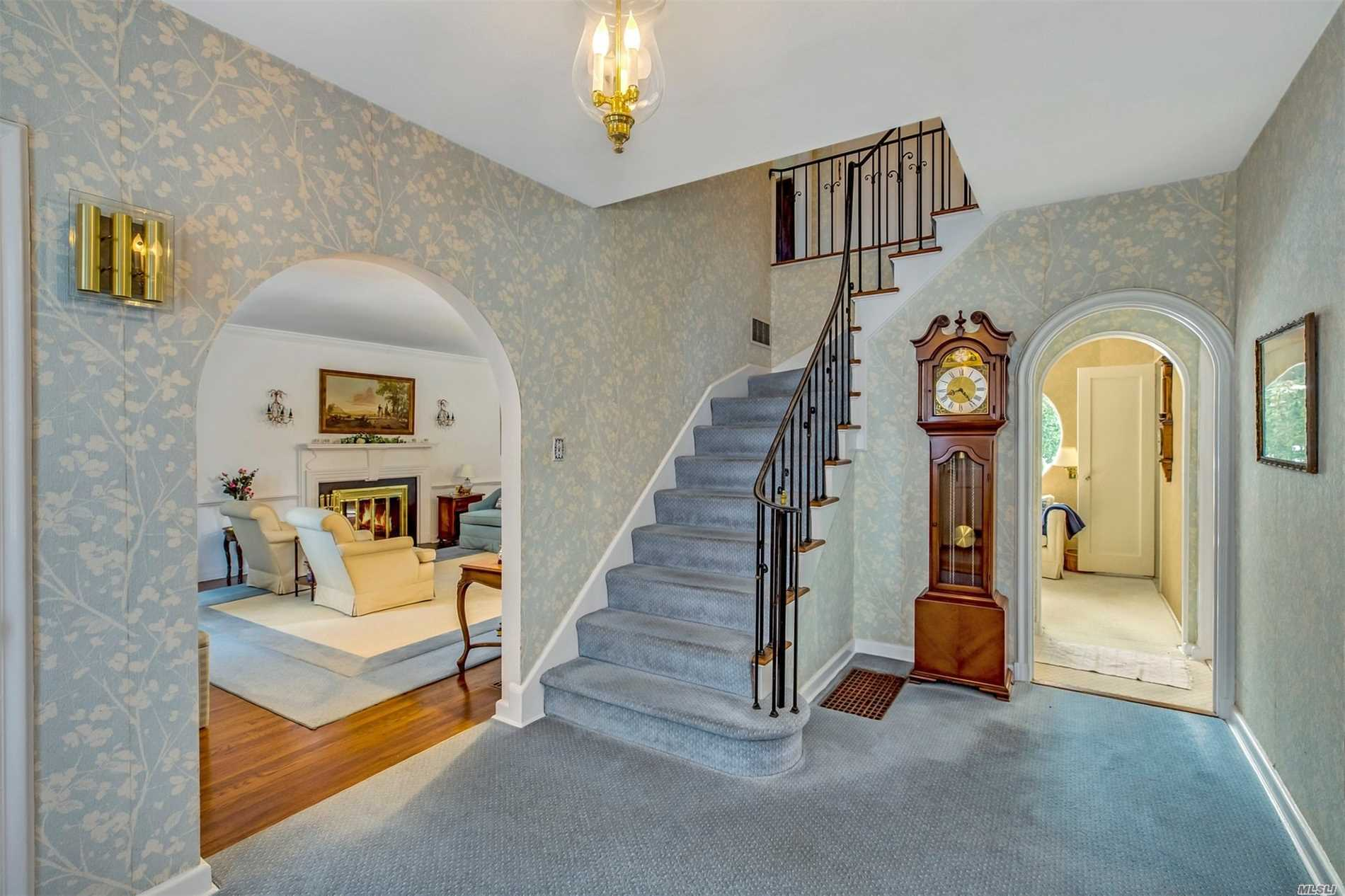 Stately Georgian CH colonial. Lr w/fp, FDR, Granite EIK, Wet bar, Bath, Study, Half bath, Family room with doors to patio. Master Suite with full bath, 3 bedrooms, bath Finished playroom in the basement, laundry area