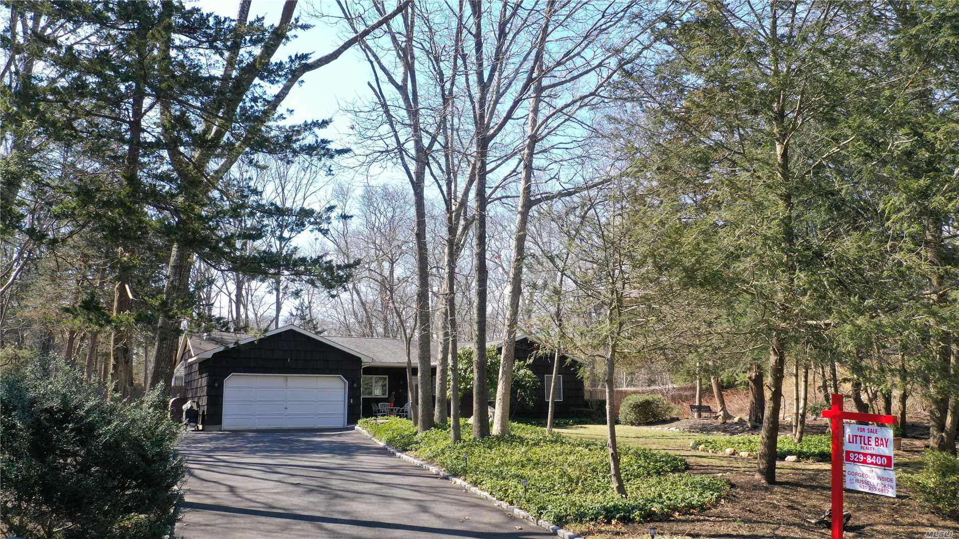 Terriffic opportunity to live in North Shoreham Shoreham Acres ! Very private setting quiet & peaceful. This beautifully updated and move-in ready U shaped ranch offers 3 Br, 2 full baths, open kitchen living area layout with a large den/play room, hardwood floors and tile make cleaning easier. Large Fenced private yard with plenty of room for a pool & close to beaches ! Perfect setting for family/retirement/2nd home - Hurry it will not last !!!