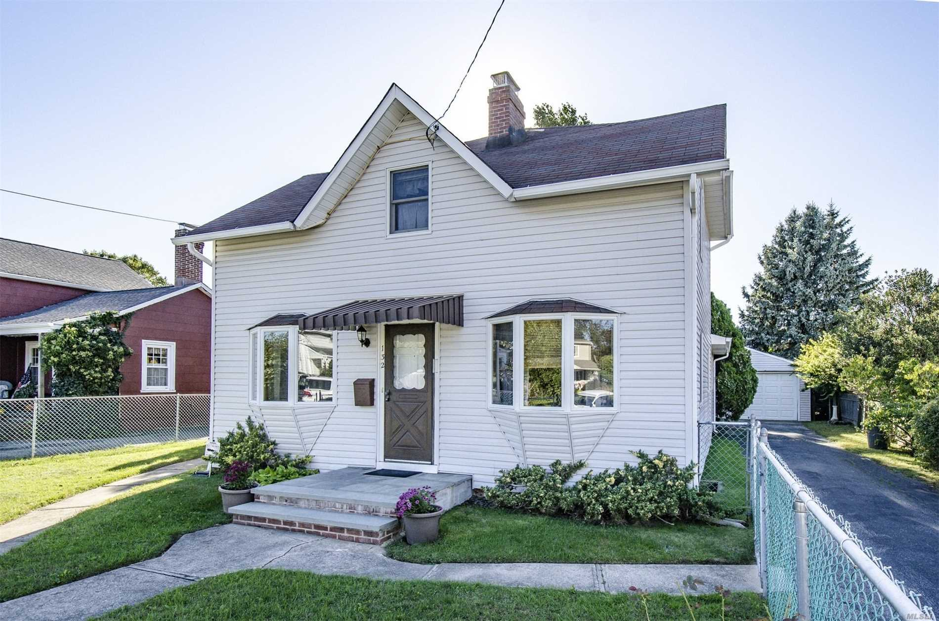 South Of Montauk. Charming 3 Bedroom Expanded Cape, Porcelain Tile, Hall And Kitchen. Greenhouse Window. Central Vac, Gas Stove, Gas Dryer, Security System, Fenced, Large, Deep Set Back Yard, Lots Of Extras