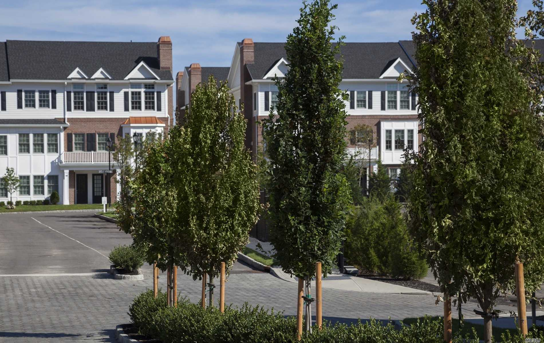 Luxury New Townhouses In The Heart Of Roslyn Village. Elegant 2800+SqFt 3 Bed, 3 Bath Condo Featuring Top Of The Line Kitchen And Baths,  Private Elevator, 2 Car Garage. Set On 12 Acres w Waterside Promenade, Kayaks, BBQ Area, Playground And Private Clubhouse. True Urban-Suburban Living. One Block To Town, Shopping, Theater, Library And Restaurants.