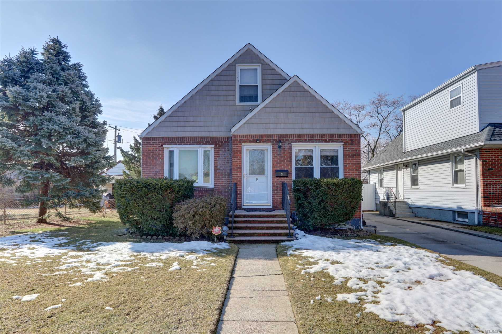 In The Heart Of Elmont. In The Nicest Part Of Elmont Close T0 Major Highways And Jfk Airport. A Beautiful Brick Cape House In Great Condition. Hardwood Floors In The Living Room. Nice Spacious Bedrooms And Plenty Of Space In The Backyard For Kids To Play. Seperate Entrance For The Basement.