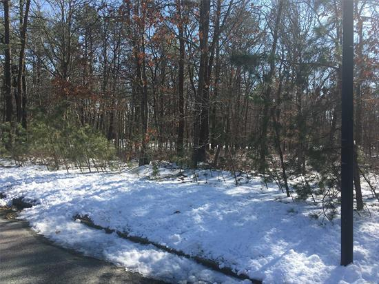Dream acreage for your dream home. Wooded 5+ acres. Possible subdivision. Located in the heart of Manorville. Road frontage on Silas Carter and access at end of Davidson Ct. Close to all the east end has to offer.
