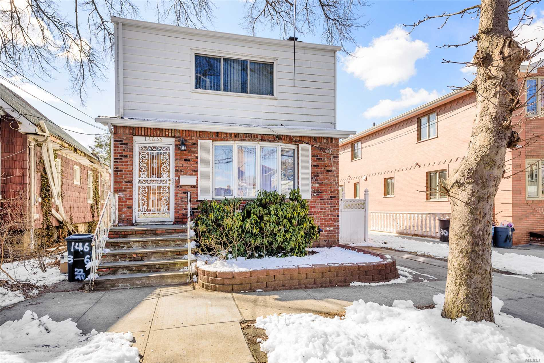 Very well maintained R3-1 zoned 4BR/1.5BTH DET 1700 sq ft sun-drenched colonial located on quiet tree lined street. Conveniently located near whitestone bridge and higheway this home features gleaming hardwood floors, rear deck, large basement with separate outside entrance, NEW roof and windows done 2018.