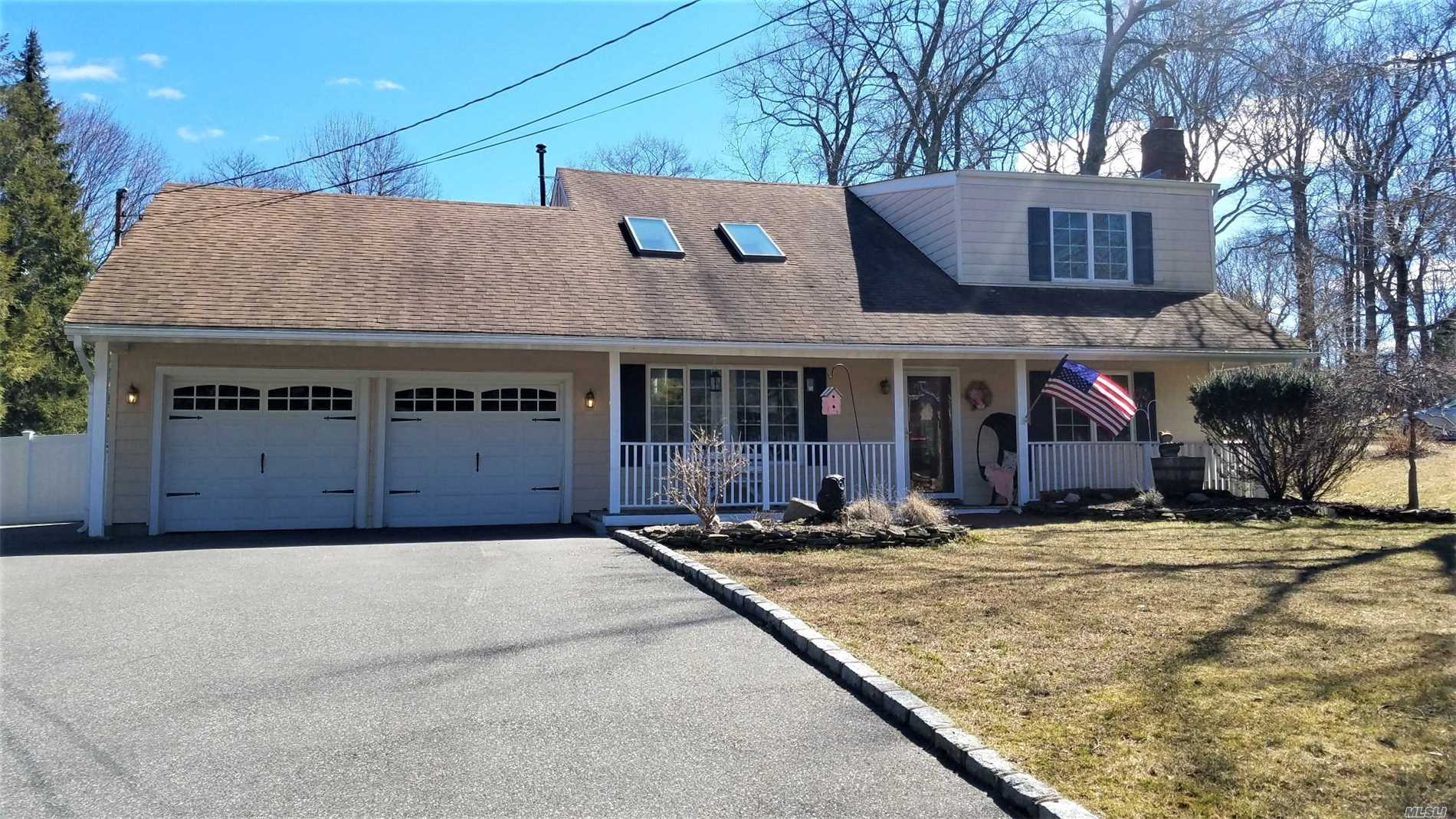 Welcome Home! Charming Farm Ranch Boasts 4 Brs, Flr, Fdr W/Fpl, Lg. Eik, Fam Rm W/Pellet Stove, 2.5 Bths, Newer Wood Floors, S/S Appliances, Paint, Bathrooms, Spacious Enclosed 3 Season's Room With Trex Decking, Manicured Property, 2 Car Garage, Extended Driveway, Beach Rights.