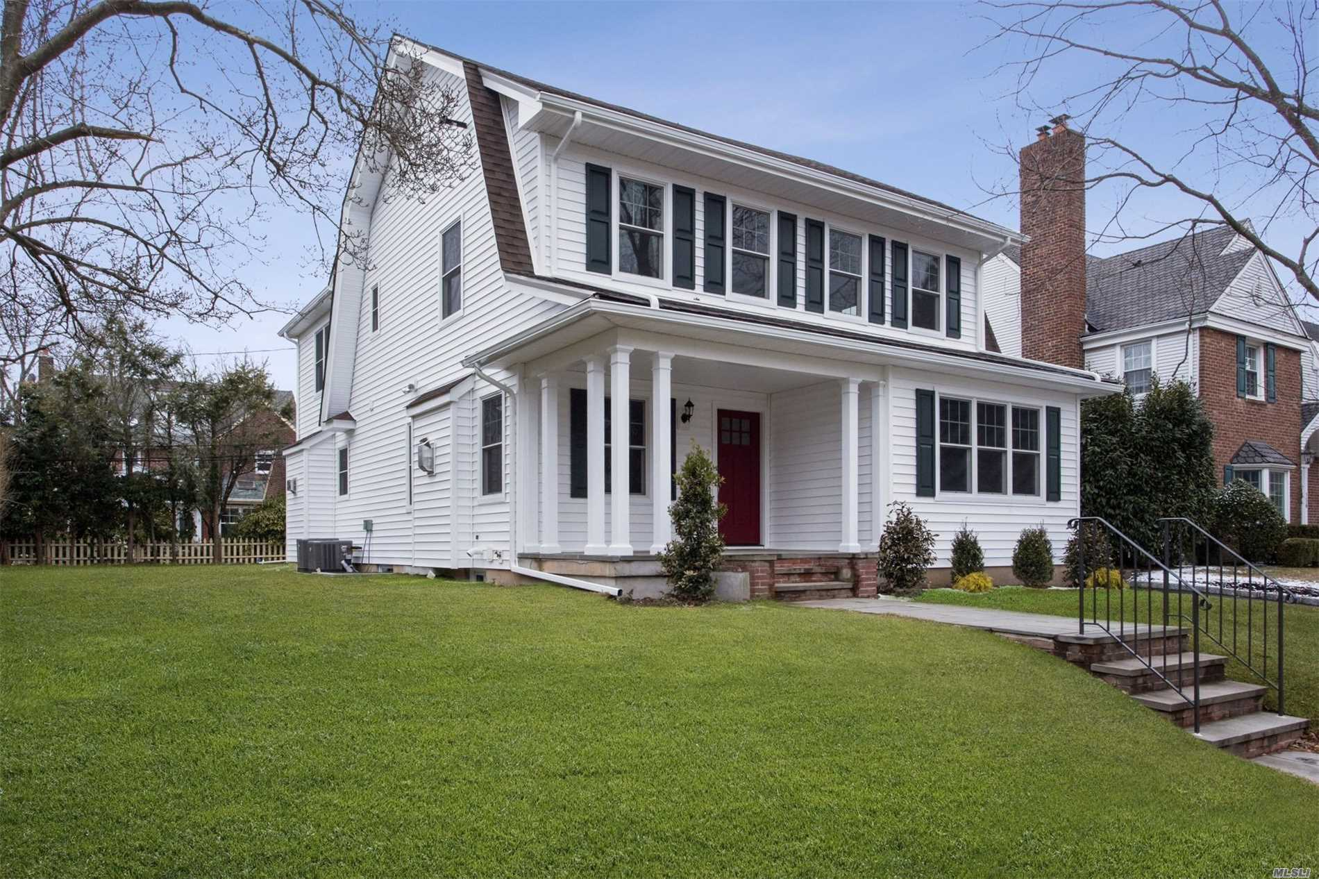 This beautiful Colonial situated mid-block in the heart of the Estates Section of town was completed renovated throughout. First flr features LR w/fp & gourmet kit w/island flows into family rm w/fp. Sizable FDR, office, mud & pwdr rms. Second flr boasts mbr suite w/vaulted ceilings, wic & gorgeous bath & 3 addl Brs serviced by hall bath. Finished bsmt provides rec rm & bath. All new mechanics w/ 2 zones Cac & Heat.The location & superior build quality make this the perfect place to call home!