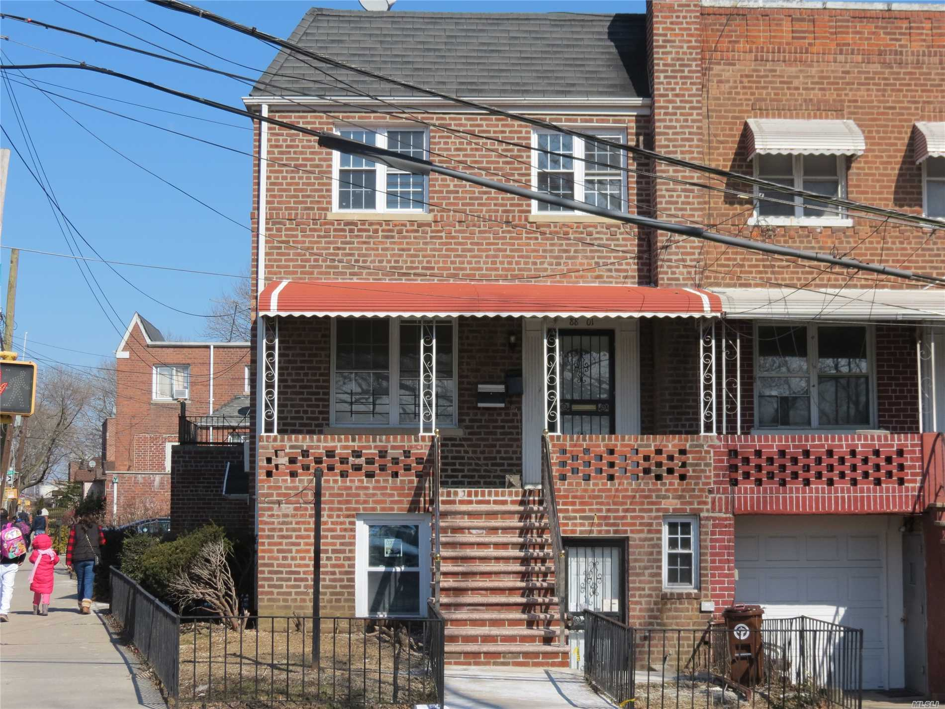 Whole house has been renovated 1st floor is an office with tiled floor, separate entry on hillside Ave. 2nd Floor duplexed with 3rd Floor 4 Br hard wood floors throughout Porch in front and Balcony in the back of first floor. New roof, 1 car garage + 1 parking, 1st floor was used as a doctor office with front desk and 4 rooms. whole house is vacant.