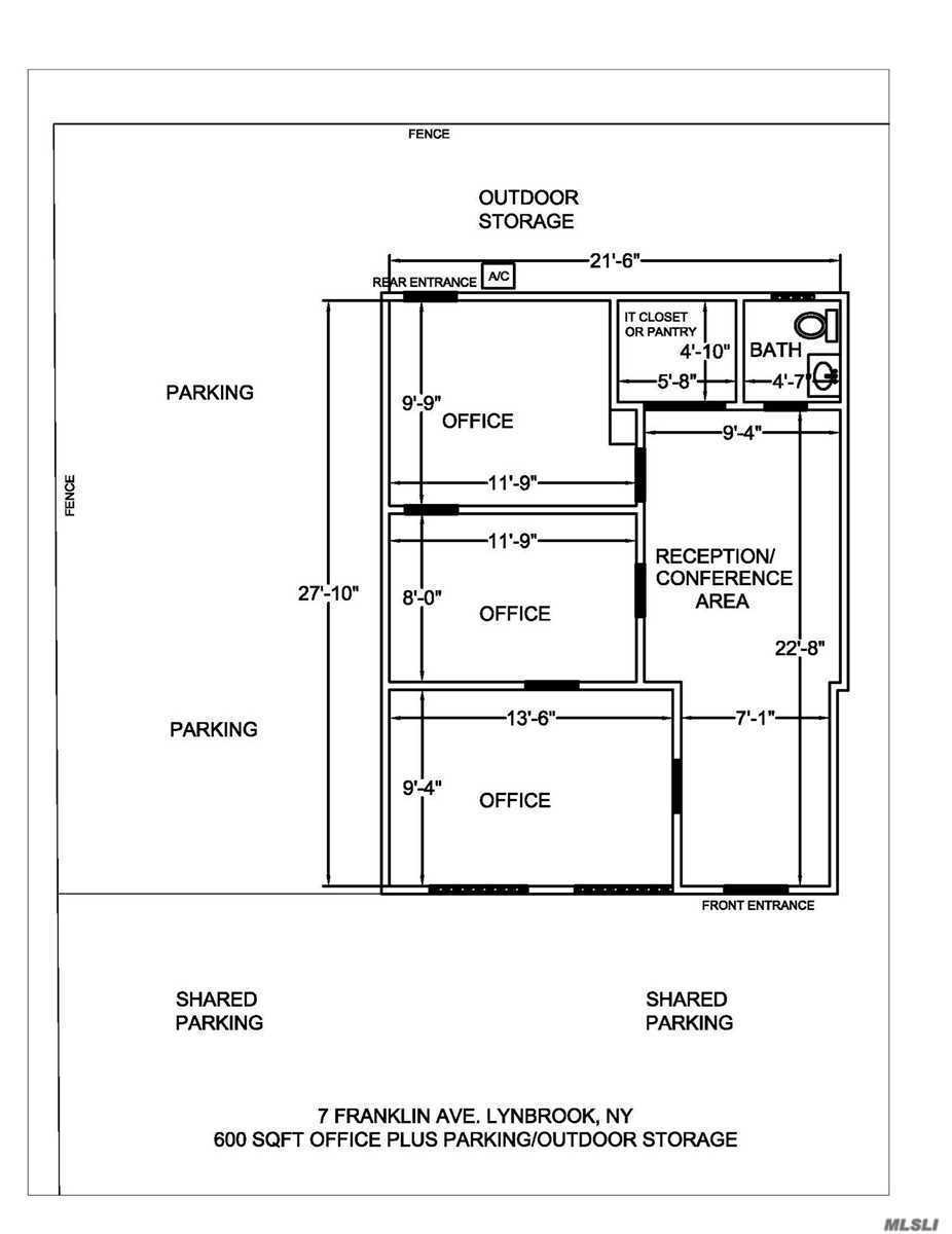 High visibility location, 4 room office with bathroom, pantry and parking. Owner willing to build to suit-to be negotiated. Previously was a doctors office, great professional space. Could work for a contractor or retail -Parking/outdoor storage space available. Separate utilities. Central heat/Air conditioning.