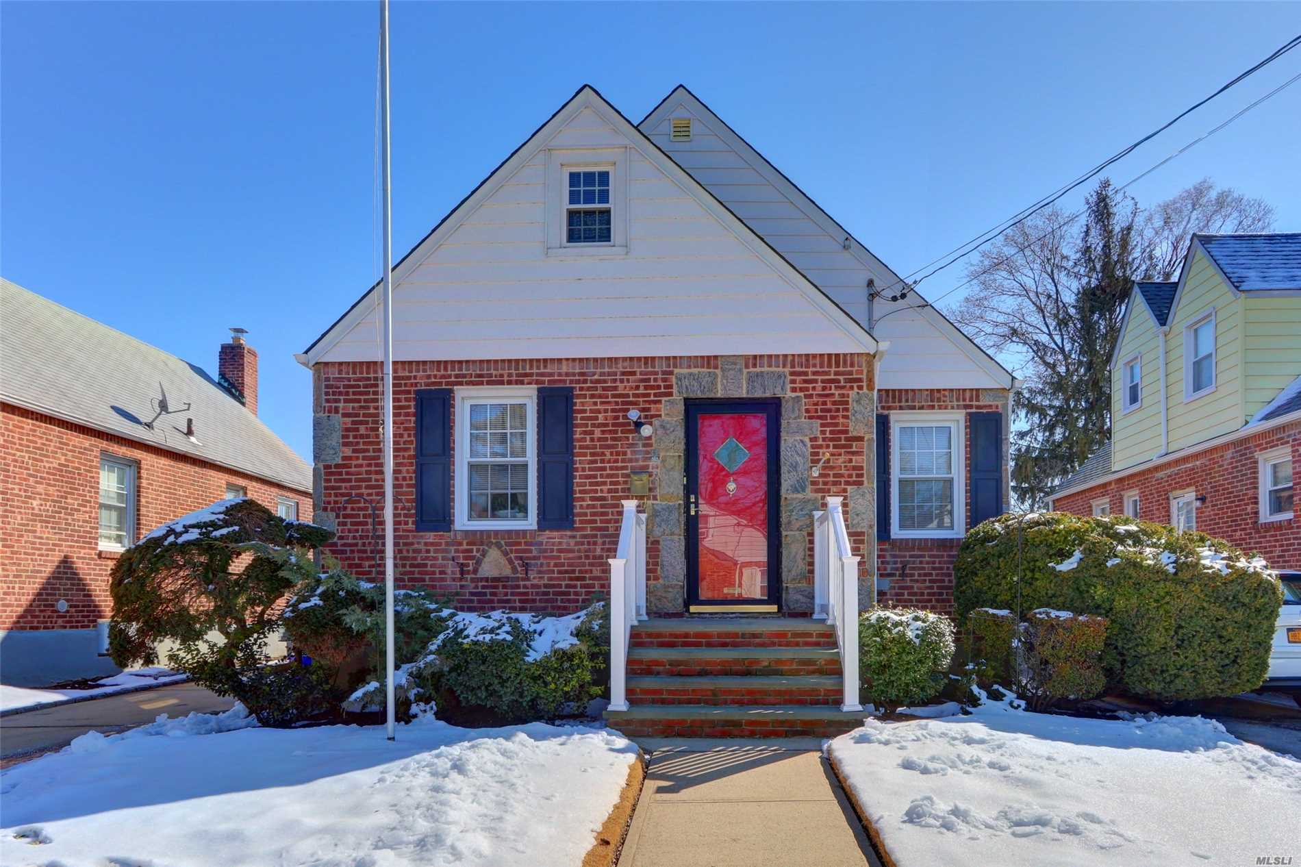 Sunny, Solid and Exceptionally Clean Cape Cod Home. Perfect Starter Home. Great Location. Near Village, Lirr, Mta Bus Stops & Airport. Low Taxes!