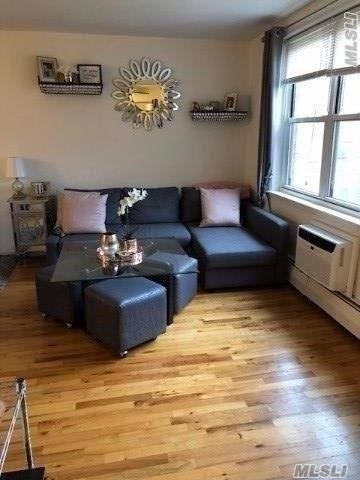 Beautifully Updated Large Studio with Hardwood Floors, Stainless Steel appliances, Granite Countertop, Brand New A/C, Three Large Closets and Dining Area. On Site In-ground Pool, Close to LIRR and Downtown Village. Great Location!
