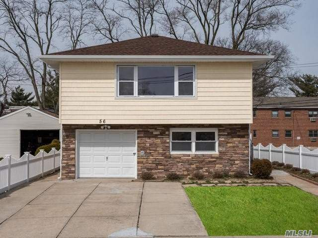 Just renovated, High Ranch, just blocks from LIRR, Shops, buses, Amazing Beautiful Whole House, fenced in Yard, has total of 5 bedrooms /2 Full bath,  Kitchen has Granite counter tops, SS appl. Spa type tiled Bathrooms,  New Siding, New Roof, Hardwood floors, Mirrored Closet sliders, New Heating System, CAC, Gas Heat, landlord will consider pets.  A real must see!! Easy commute to NYC.