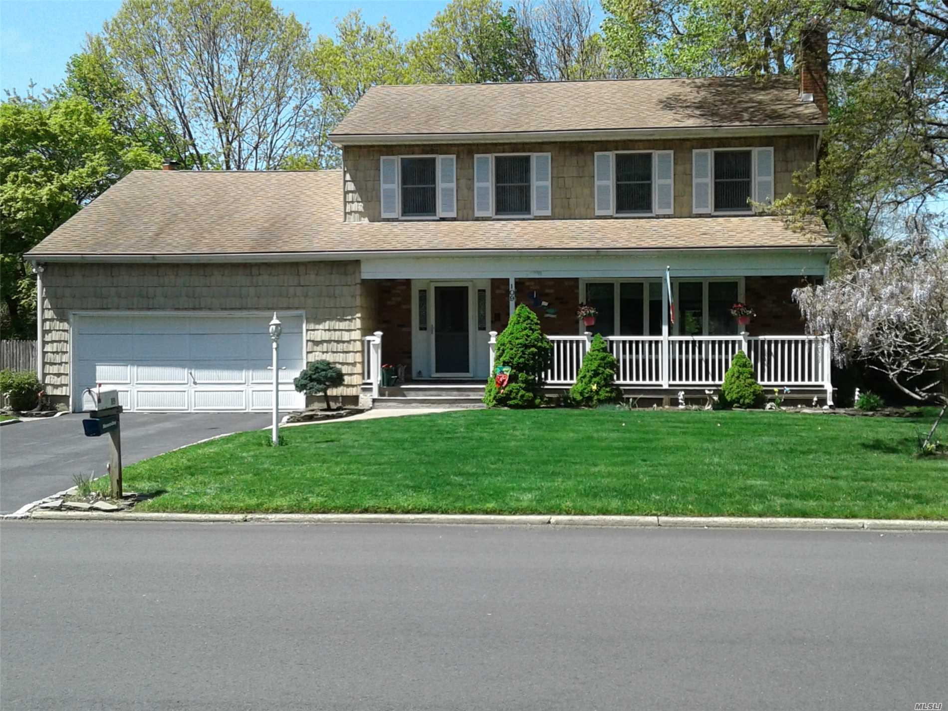 Absolutely Immaculate, True Center Hall Colonial with Charming Front Porch! Hardwood Floors, Large rooms, Great Closet Space. Wonderful Family Room with Stunning Wood-Burning Fireplace, Surrounded by Custom Stonework. EIK has Sliders to Large, Sunny Deck for Great Outdoor Entertainment. Fenced Corner Property. Full Finished Basement has Heat and Separate Office Space. Water Filter, 3 Zone Heat, Gutter Guards. Must See to Believe How Well-Maintained and Cared For this Home is!
