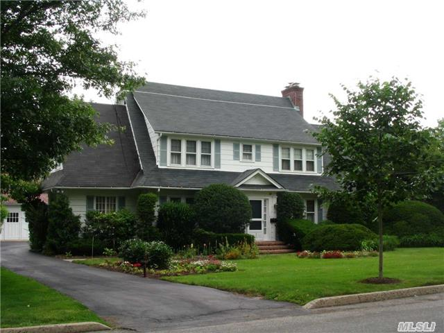 Commuters Deam! Walk To Railroad In 4 Min Flat! Schools And Village Just Around The Corner It's A Wonderful Life! Picture Perfect 4 Br Dutch Colonial In Top Location. Beautiful Grounds W/Specimen Plantings--3 Car Garage. Sunny & Spotless!
