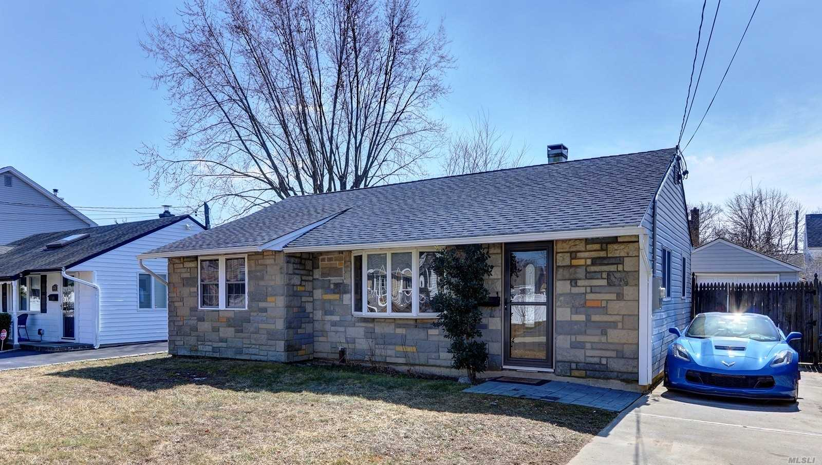 Adorable newly renovated Stone Front Ranch with nice low taxes of $6, 937 with star discount. Over sized Detached Garage and plenty more storage in attic. New kitchen with sub zero Refrigerator, Granite Counter Top and Stainless Steel Appliances. New full Bath with Marble Tile. All new Flooring throughout. Central Air conditioning. New Washer/Dryer on Main Level. Mostly Anderson Windows. Roof 7 years young. New furnace. Rear Patio with Fenced yard. Electric Approx $120, Heating Approx $225