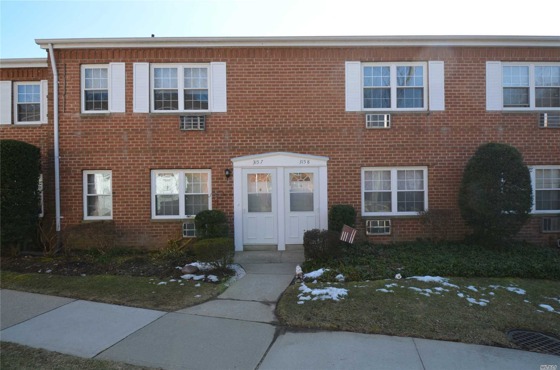 Spacious 1 Bedroom Co-Op in Great Location offer Living room, Dining Area, Brand New tiled Bathroom, Large Bedroom with Double closets, Eff Kitchen with gas cooking, near shops and LIRR, assigned parking space plus guest parking, Laundry Room, Additional Storage. Pool coming soon.