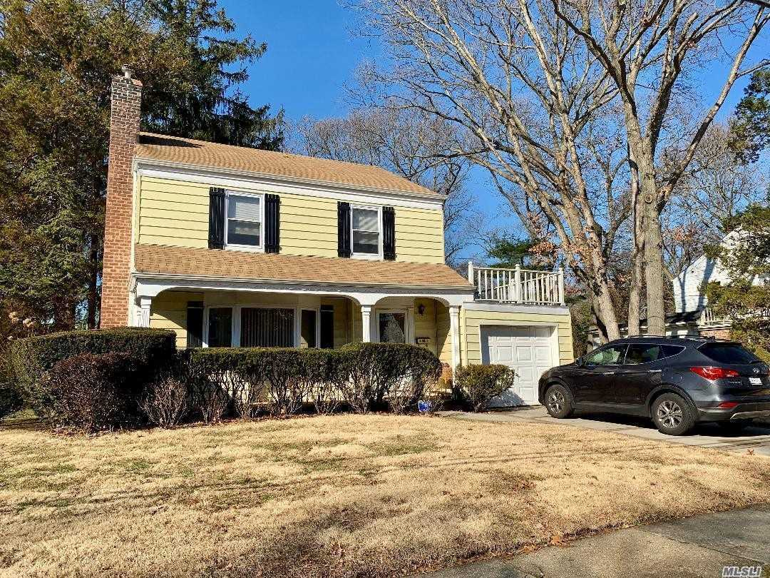 Great center hall 3 bedroom colonial on nice residential street. Living room with fireplace, FDR, EIK & Family room with door to yard, Move in for now & lots of potential for the future