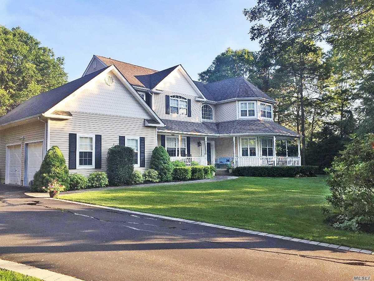 Welcome home!DIAMOND 5 bd, 3.5 ba Victorian w/wrap around porch perfectly nestled in a cul de sac, in the Exclusive Rockhill Woods!Formal LR w/dbl. crown moulding, Formal spacious DR, Open EIK w/island, SS appl, high ceilings, hi hats, Sunlit vaulted Great rm w/fireplace.Hardwood floors up and down, CAC, Cvac, Master en suite that speaks for itself.Full fin basement boasting, family room, kitchen, Gym, Br, full bath, office for the whole family+ a game room! Shy acre & backed by preserve! A MUST SEE!!