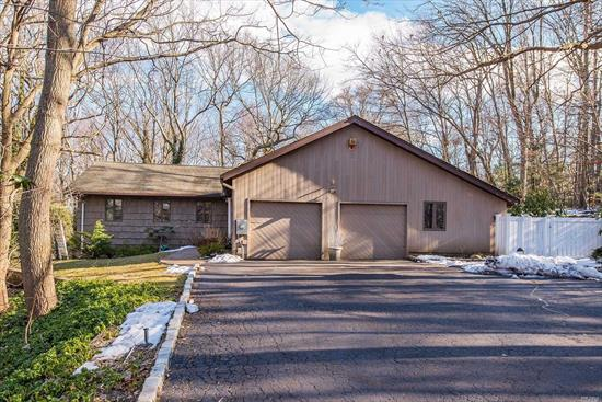Dix Hills Spacious Ranch! 4 BR, 3.5 baths with fabulous large finished basement, room for mom/dad. Wood burning fireplace provides warmth in winter and 20'X40' Gunite IGP will cool you while entertaining outside. Home is set back on a lovely very private acre in the desirable Half Hollow Hills School District! Master BR has small deck outside and main bath has Jacuzzi tub. Don't miss this great value and opportunity to bring your own updates and taste to this Dix Hills home!