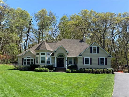 Sprawling Ranch on Private 1.28 Acres!! Nature Lovers Paradise Updated With Impeccable Attention To Detail & Quality. Only 5 yrs old !! Open Floor Plan with Spacious Sun Filled Rooms, Vaulted Ceilings, CVAC, CAC, Expansive Windows, Red Oak Floors Throughout, Gourmet Kitchen w/ Granite and Island Vac, High End Energy Star Appliances & Utilities, Alarm, Master Suite w/Tray Ceiling & Master Bath, Jacuzzi Tub, WIC, FR W/Vaulted Ceiling & Fireplace, Loft/Office W/Plumbed Bath, In Renowned SWRSD !