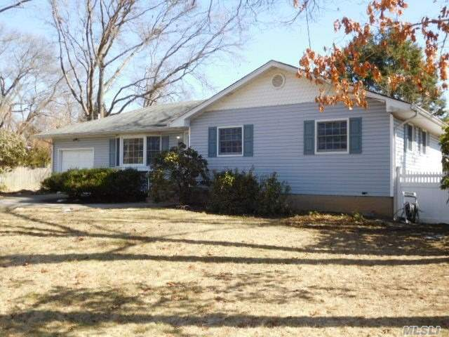 Make yourself at home in this 3 bedroom ranch located in desirable neighborhood of Woodhull Estates. This stylishly comfortable 6-room has f full finished basement, garage and located on 1/4 acre. Don't delay!