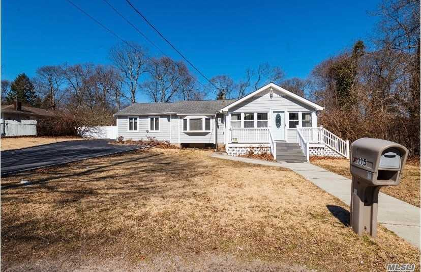 Cozy 3 Bedroom Ranch With An Oversized Yard. Lots Of Natural Light Fills The House From The SunroomWindows + Skylights. Large Master Bedroom And Closets Await. New Central Air + Heating System With Low Taxes. Don't Miss This One!