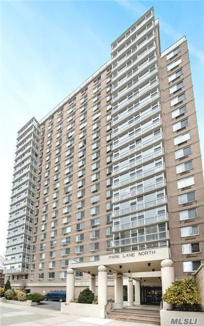 Exceptional Renovated XLG Studio! Luxury Doorman Highrise Co-op. High Floor, Views, Massive Windows. Living Space Can Accommodate Any Br and Liv Rm Furniture. Separate Large Alcove. New Kitchen with New Appliances. Bath w Jacuzzi Tub. Amazing Closet. AC/Heater Installed. New Gym, Theater Room, Package Service, Bike Room, Roofdeck, Communal Garden w Grills, Recorded Surveillance, Shareholder Account Software, 24Hr Laundry, Ind/Outdoor Parking. Near Forest Hills Gardens, Forest Park, Train, Shops.