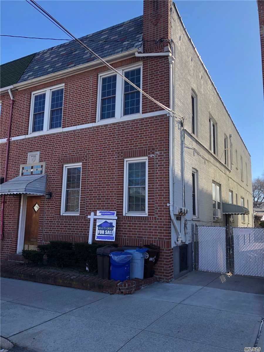 Beautiful Brick semi-attached 3 family with private driveway in Kensington . 1st flr. owners apt. 3 bedrooms, EIK, LR, Formal dining room, 1 full bath.Private entrance from the driveway to the owners apartment. (2261 sq ft) 2nd Fl. Apt 1-2 bedrooms, EIk, LR, full bath (596.75ft) Apt 2- 1 bedroom, EIK, LR. (550.25 sq ft). Great investment and income generator. Will be delivered vacant. Approx. 3, 000 sq ft. Hot Water heater replaced 6 month Furnace - 5 years Roof - Recoated Nov 2017