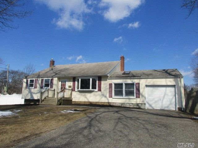 This is a Fannie Mae HomePath Property. Spacious split level featuring eat in kitchen, living room, dining room, family room with fireplace, 3 bedrooms and 1.5 baths. 1 car attached garage for storage. Easy access to the Long Island Expressway.
