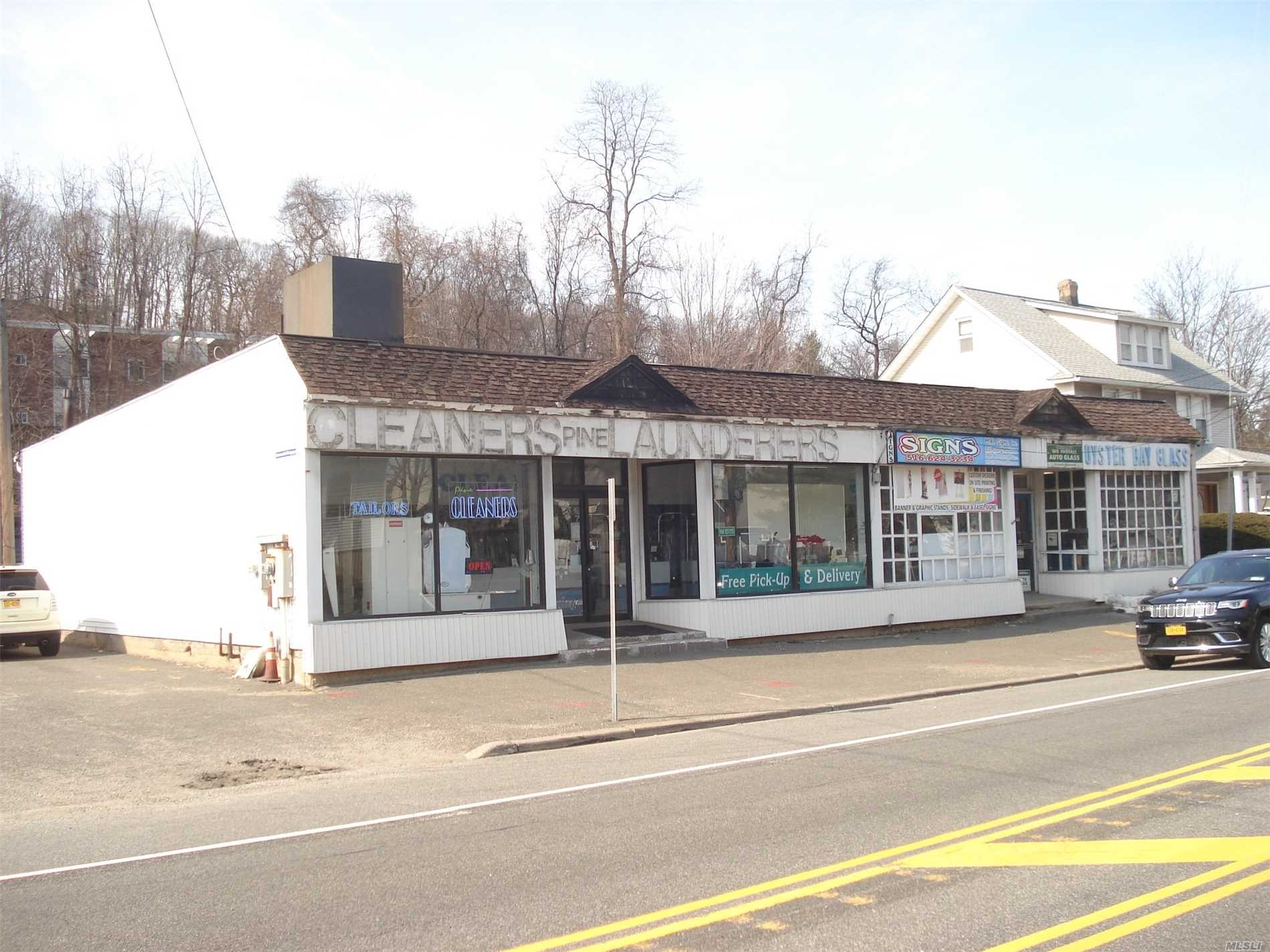 Large Multi Building Commercial Property for sale. 260 feet frontage on N/S Rt. 106, 150 Ft. depth. 39, 000 Square feet zoned Business GB. Property comprised of 3 Retail Stores, 2 Auto Shops, 2 Family Home, and 1 Family home.Survey, Income and Expenses furnished upon request.