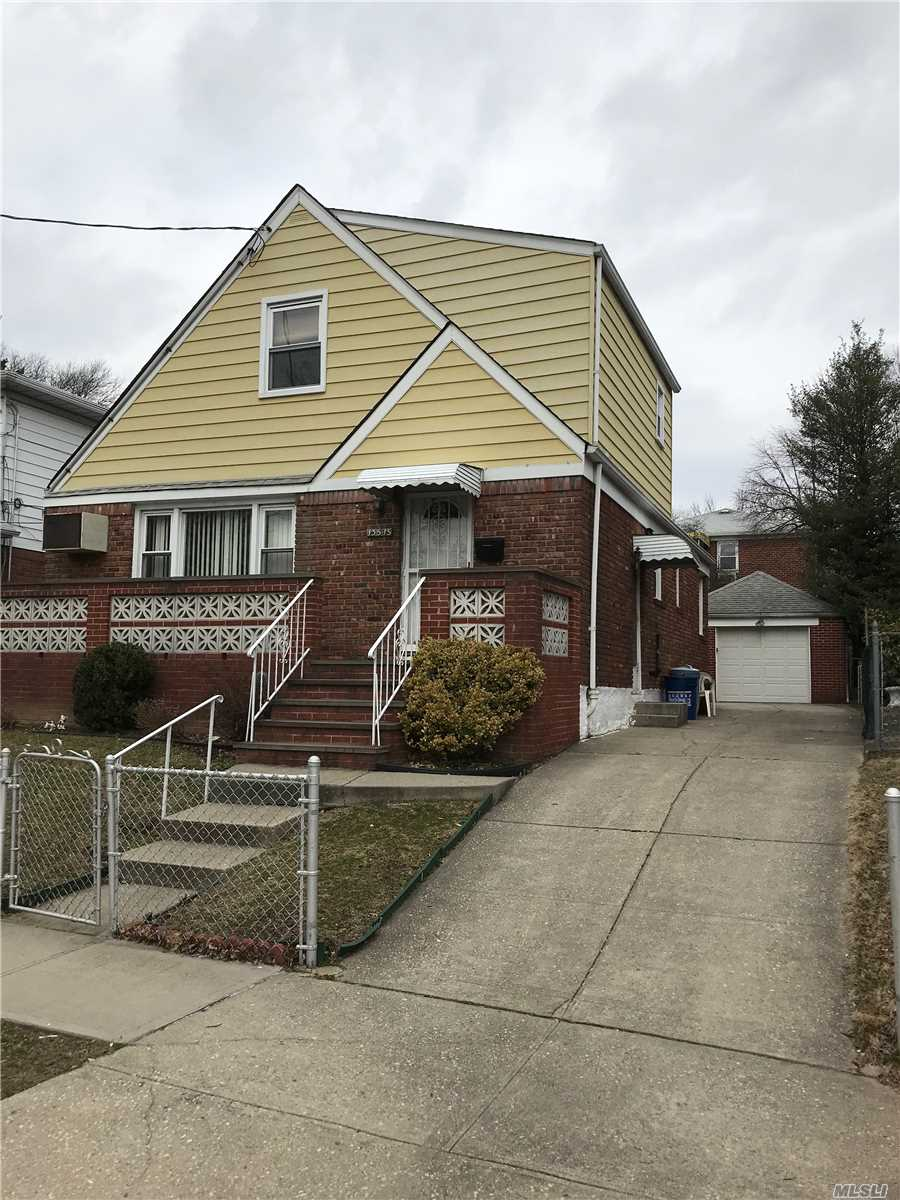 Solid brick home on Quiet, Sunny Residential Tree Line Block. R3X Zoning, 26 Feet Wide Home, Private Backyard, 4 Car Driveway, Huge Detach Garage. Excellent Location, Walk to Main St, Bus Q44, Manhattan Shuttle Buses, Supermarket, Restaurants and More.