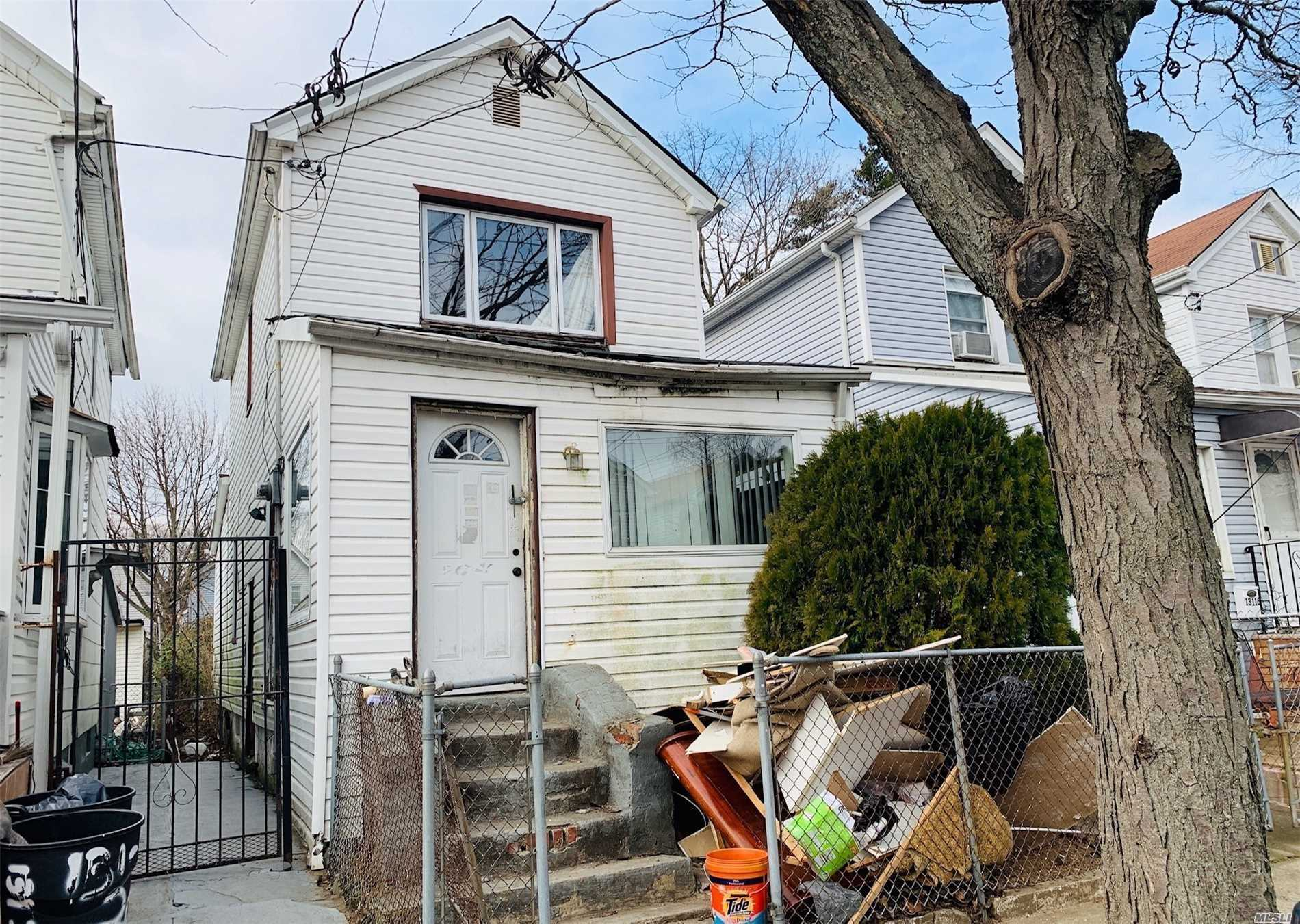 Opportunity Is Knocking! This 1 Family Detached, Colonial Features A Full Basement, Living Room, Kitchen, 2 Bedrooms And A Full Bath. This Property Has A Shared Driveway. It's Conveniently Located Near All Amenities. Don't Miss This Opportunity!