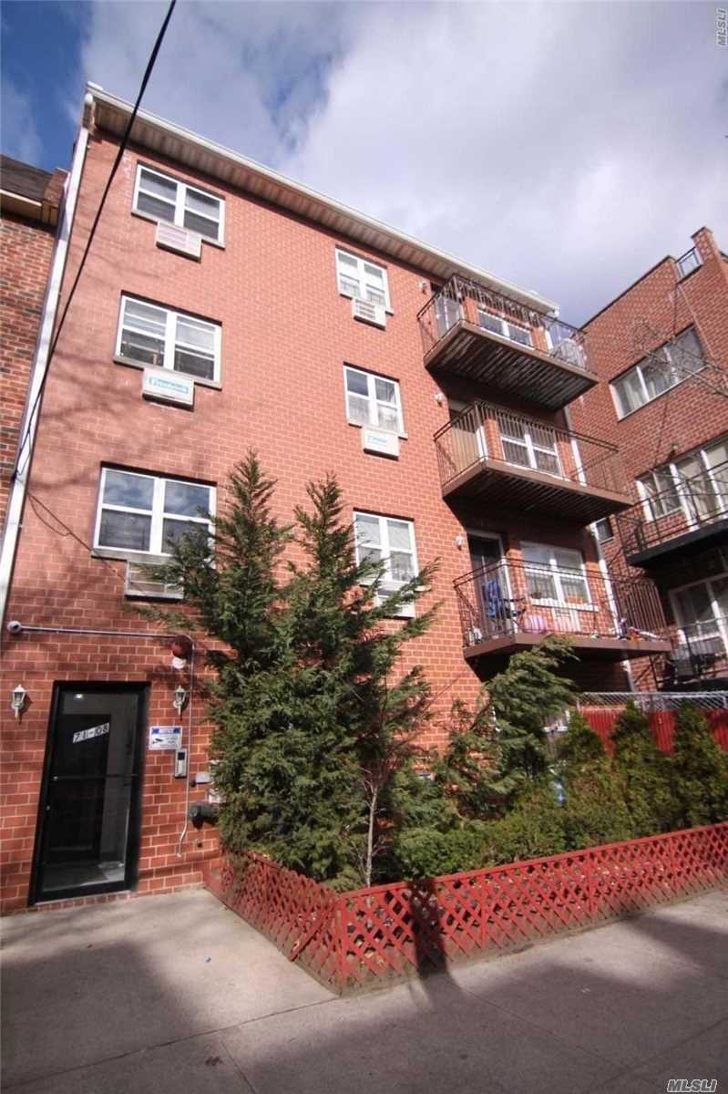 Spacious 2 Bedroom 2 Bath Apartment With A Terrace And Foyer At The Entry. Kitchen Opens Directly To Living Room/Dining Room. Laundry Facilities In The Basement. Convenient To Q64 And Q65 To 71st Ave Forest Hills, Main St Flushing And Lirr - Jamaica.