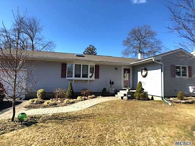 Charming 3 bedroom Ranch in Connetquot Schools. Beautifully maintained, this bright and airy home is not your typical Ranch - Features include: Skylights, vaulted ceilings, and hardwood floors. Oil Burner replaced in 2008, Roof in 2015, Anderson windows throughout. Open Floor Plan, Full Basement with OSE. Must See, Won't Last!