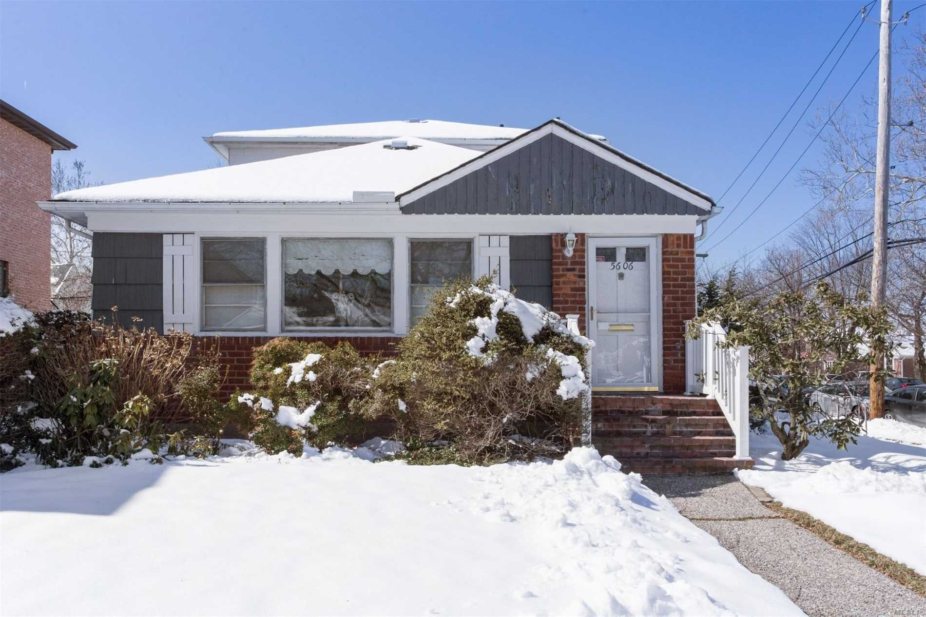 Expanded home on oversized property in perfect location. Close to Cardozo HS and Queensboro CC. Home boasts two stories, Master on the main level, two additional bedrooms and bath upstairs. Possibility of 4th bedroom, hardwood floors. Close to public transportation and shopping. All this and famed school district 26.